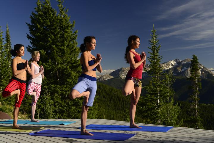Yoga on the Sundeck