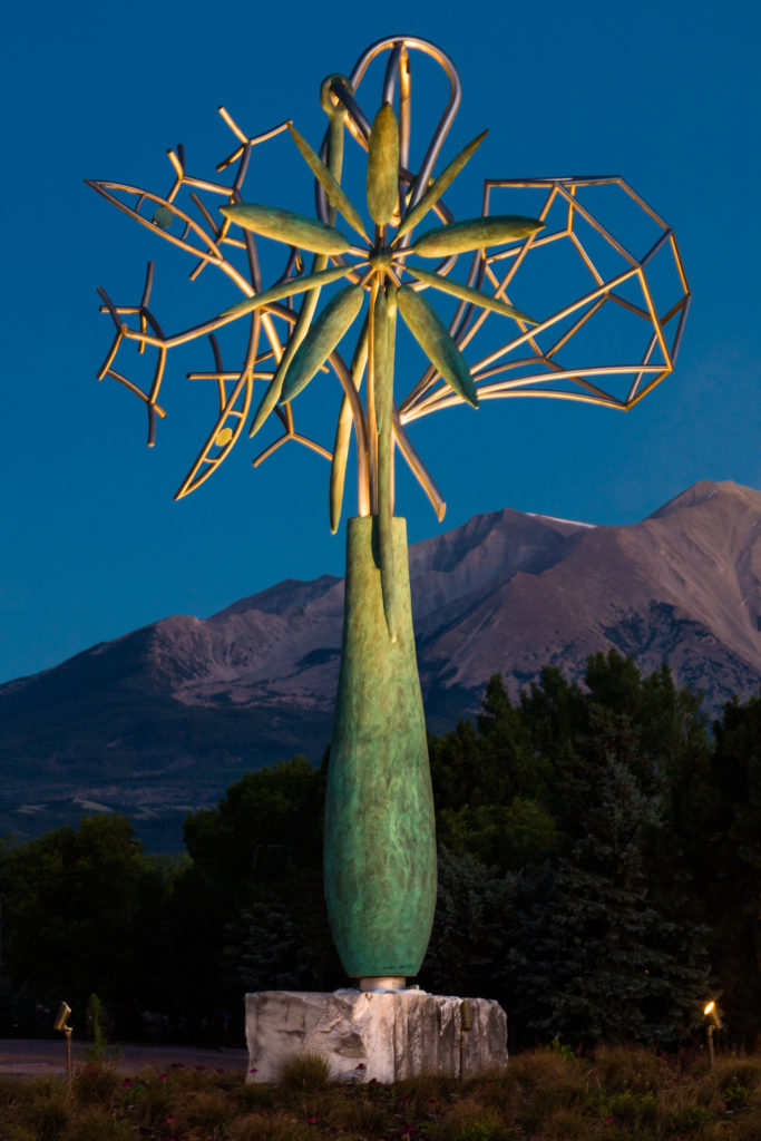 Robert Singer & Assoc. James Surls Carbondale roundabout sculpture, July 25, 2015