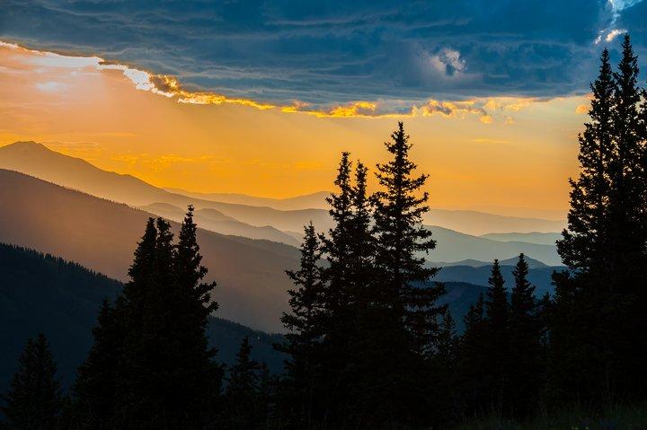 Sunset Aspen Mountain Sundeck